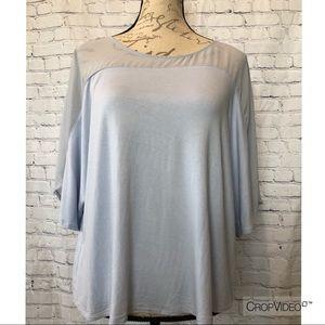 H by Halston light blue blouse, size M